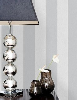 Harrison Glitter Stripe Wallpaper Grey