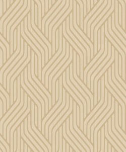 Pembrey Metallic Wave Wallpaper Gold