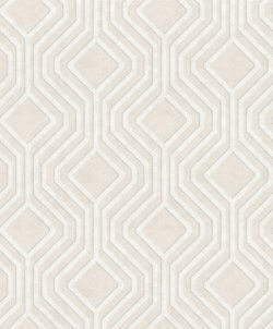 Sequin Geo Wallpaper Cream