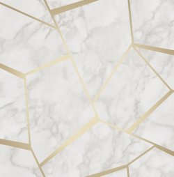 Marble Fractal Metallic Wallpaper Gold