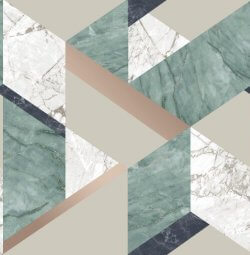 Marblesque Geometric Marble Inspired Wallpaper Jade Green