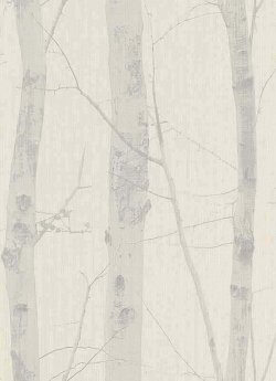 Woodland Trees Wallpaper Beige