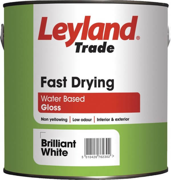 Fast dry gloss brilliant white 2 5l leyland decorating - How fast does exterior paint dry ...
