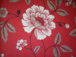 Floral Luxury Wallpaper Red