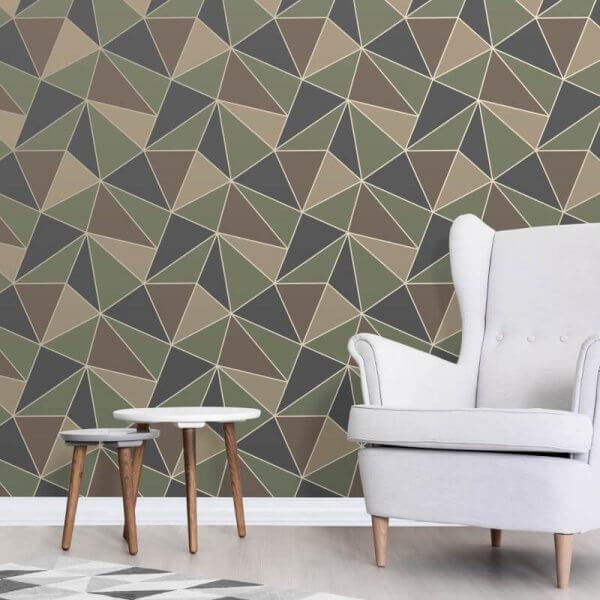 Apex Geo Wallpaper Rose Gold: Decorating Centre Online - Decorating Centre