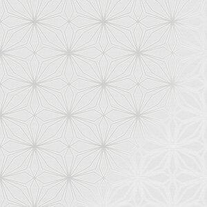 Stitch Geo Metallic Wallpaper