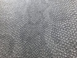 Metallic Snakeskin Textured Wallpaper Charcoal