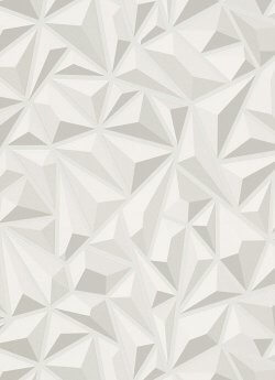 3D Geo Wallpaper White