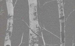 Glitter Woodland Forest Wallpaper Grey
