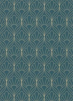 Leaf Trellis Wallpaper Teal