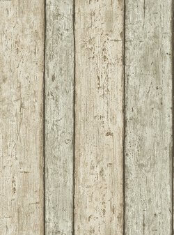 Wood Panel Effect Wallpaper Beige