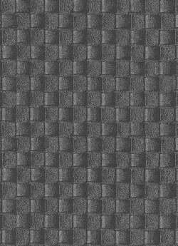 Brix Woven Leather Wallpaper Silver & Charcoal