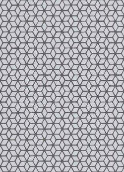 Geometric Cube Wallpaper Dark Grey