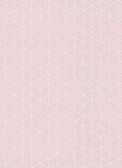Scandinavia Geo Wallpaper Pink