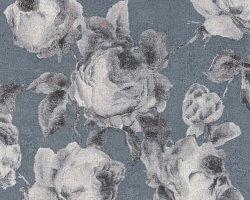 AS Creation Bohemian Burlesque Floral Metallic Wallpaper Blue