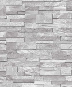 Stone Effect Wallpaper Grey