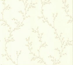Rosemore Millton Delicate Leaves Wallpaper Cream