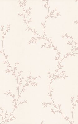 Rosemore Millton Delicate Leaves Wallpaper Blush Pink