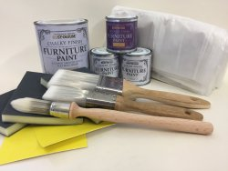 Rust-Oleum Chalk Furniture Paint 'Everything you Need Upcycling' Greys Kit