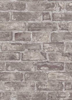 Imitations Rustic Brick Wallpaper Grey