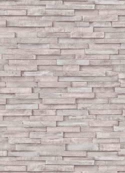 Imitations Rustic Wood Panel Wallpaper Pale Grey