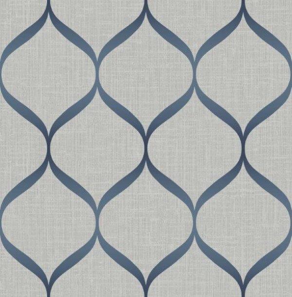 Trellis Wallpaper Metallic: Pear Tree Designs Wallpaper