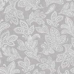 Calico Leaf Wallpaper Soft Grey