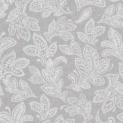 Calico Leaf Wallpaper Soft Grey
