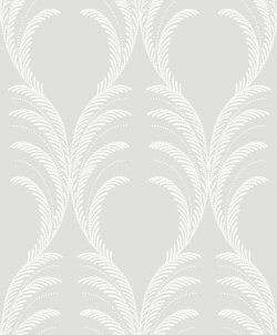 Plume Damask Glitter Wallpaper