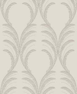 Plume Damask Glitter Wallpaper Taupe