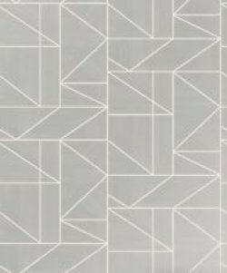 Alexis Geo Wallpaper Gunmetal Grey
