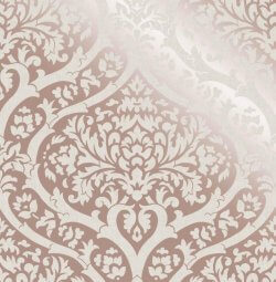 Sandringham Damask Pattern Wallpaper Rose Gold