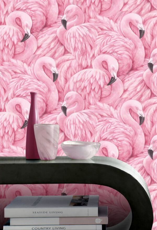 Pink Flamingo Wallpaper Rasch Wallpaper Decorating