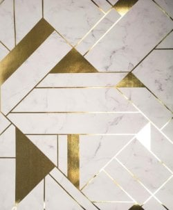 Mayfair Islington Great Gatsby Marble Wallpaper Gold