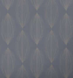 Linea Bubble Leaf Sparkle Wallpaper Navy