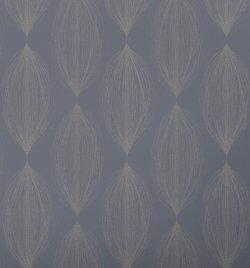 Linea Bubble Leaf Sparkle Wallpaper Navy