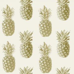 Metallic Pineapple Wallpaper
