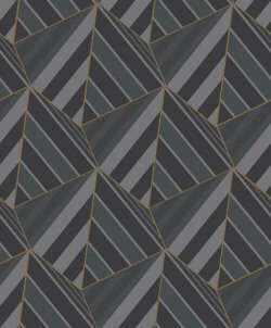 Geometric Prism Metallic Wallpaper