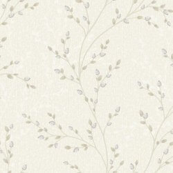 Amelia Jewel Flower Trail Wallpaper Cream
