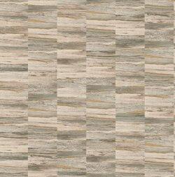 Artisan Wooden Brick Wallpaper Taupe