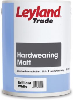 Leyland Trade Hardwearing Matt Brilliant White 5L