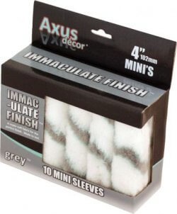 "Axus Decor Immaculate Finish Mini 4"" Roller Sleeve Value 10 Pack"