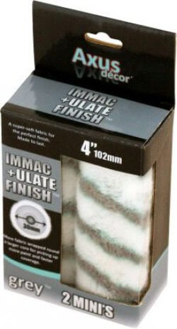 """Axus Decor Immaculate Finish Mini 4"""" Roller Sleeve 2 Pack Extra Fluffy"""