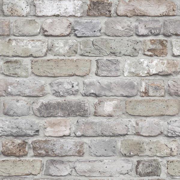 Facade Brick Wallpaper Grey Galerie Wallpaper Decorating Centre