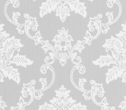 Rosemore Hampton Damask Wallpaper Grey