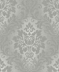 Fabric Damask Glitter Wallpaper