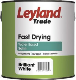 Leyland Trade Fast Dry Satin Brilliant White 750ml