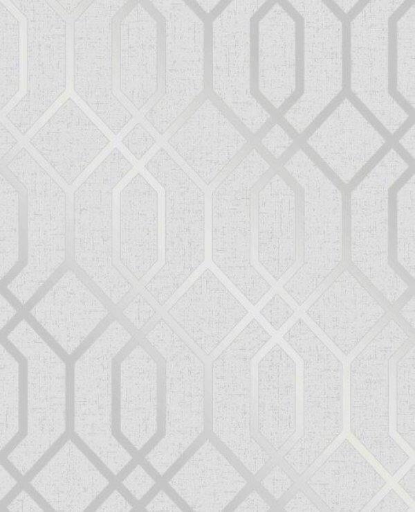 Trellis Wallpaper Metallic: Quartz Trellis Wallpaper