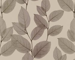 X-Ray Skeleton Leaf Wallpaper Bronze