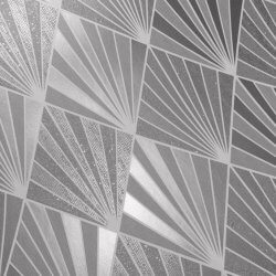 Great Gatsby Aster Geo Metallic Glitter Wallpaper